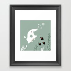 Ocean Elephant Framed Art Print