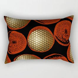 RED, BLACK & GOLD Rectangular Pillow