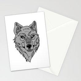 Moony-Eyed Wolf Stationery Cards