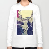 sailing Long Sleeve T-shirts featuring sailing by gzm_guvenc