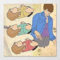 tegan and sara Canvas Prints featuring Tegan & Sara by M. Duwel