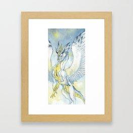 Feather dragon Framed Art Print