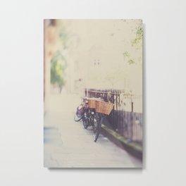 Summer time bicycle photograph Metal Print
