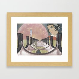 Pink Moon Lagoon Framed Art Print