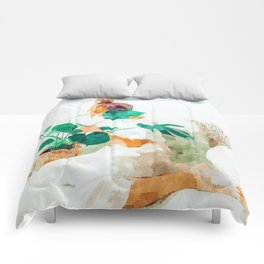 Me + Monstera #painting #minimal Comforters