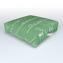 Library Card 23322 Negative Green Outdoor Floor Cushion