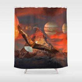 Mountain Life by GEN Z Shower Curtain