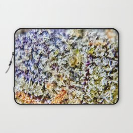 Purple Forum Cut Cookies Strain Resinous Amber Trichomes Dank Buds Close Up Laptop Sleeve