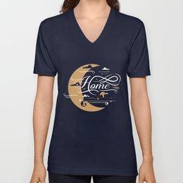 Milwaukee Home Moon Unisex V-Neck
