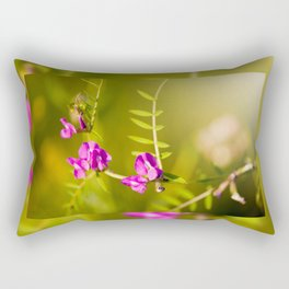 green branched tendrils of Vicia Rectangular Pillow