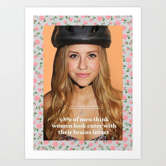 Pro-helmet poster Art Print