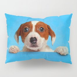 Cute Jack Russell Terrier Puppy Pillow Sham