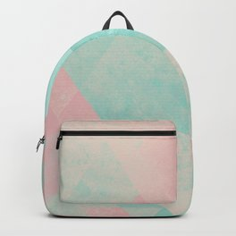 Pink and Mint Geometric Composition  Backpack