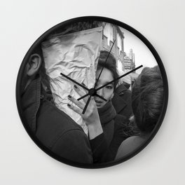 Flower Market Girl Wall Clock