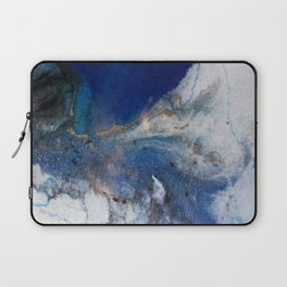 Abstract blue marble Laptop Sleeve