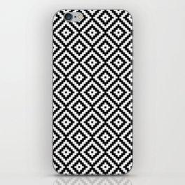 Aztec Block Symbol Ptn BW II iPhone Skin