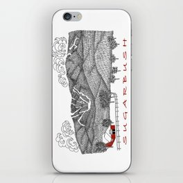 Sugarbush Vermont Serious Fun for Skiers- Zentangle Illustration iPhone Skin