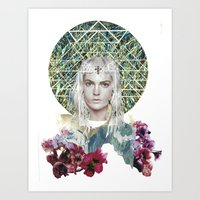 cosmic Art Prints featuring Cosmic by Caroline Augusta