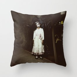 Ghost Girl Throw Pillow