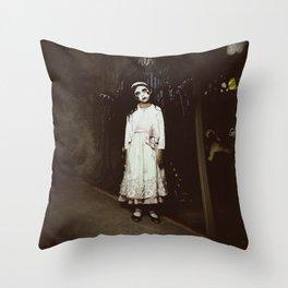 Ghost Girl Throw Pillow