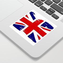 Union Jack British Flag With Grunge Sticker