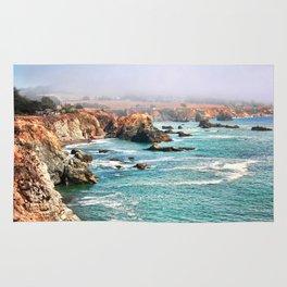 California coastline Rug