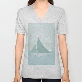 Peaceful seascape with sailboats Unisex V-Neck