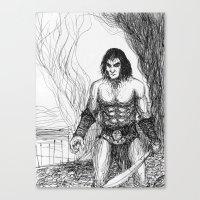 conan Canvas Prints featuring Conan fan art by Albert Wint