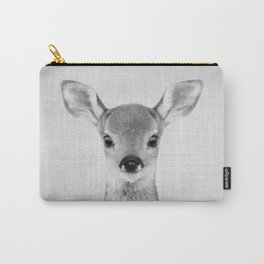 Baby Deer - Black & White Carry-All Pouch