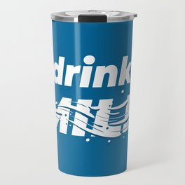 Drink milk poster Travel Mug