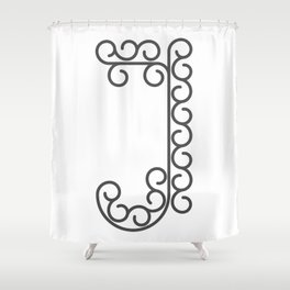 "Letter ""J"" in beautiful design Fashion Modern Style Shower Curtain"