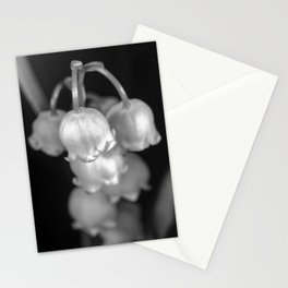 Black and white lily of the valley Stationery Cards