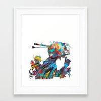 tank girl Framed Art Prints featuring Tank Girl by Art By MOP$