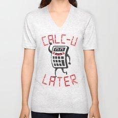 calc+u-later  Unisex V-Neck