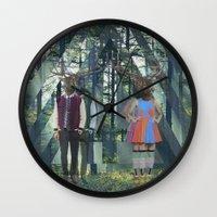 elk Wall Clocks featuring Elk by Mary Lo