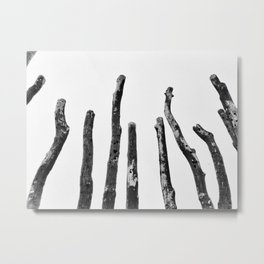 Blackened and Scorched Metal Print