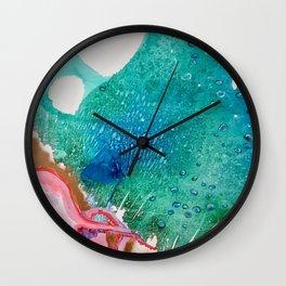 Environmental Series #5 Rare Octopus Marvels at the Ocean Wall Clock
