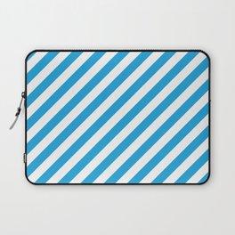 Oktoberfest Bavarian Blue and White Candy Cane Stripes Laptop Sleeve