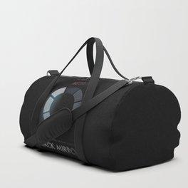 Black Mirror, minimalist tv series poster, alternative movie print, netflix Duffle Bag