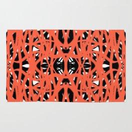 Orange   Saro-Gongo Pattern Design Rug