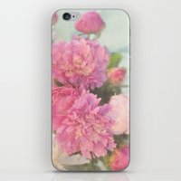 peonies iPhone & iPod Skins featuring Peonies by Lisa Argyropoulos