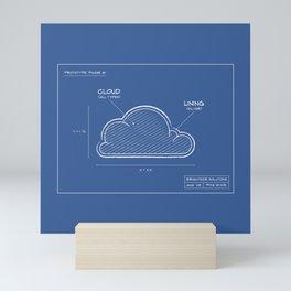 Silver Lining Cloud Blueprints Mini Art Print