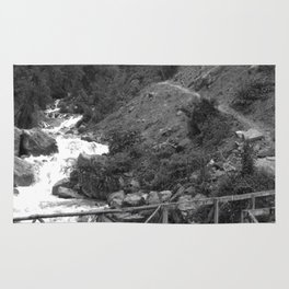 Alpine Bridge Adventure B&W Rug