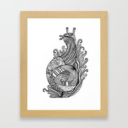 Zentangle Snail Framed Art Print