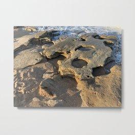 Rocky Beach in Florida Metal Print