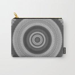 Bohemian Silver Mandala Design Carry-All Pouch