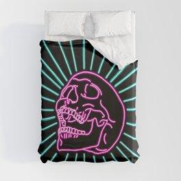 Pink Laughing Skull Duvet Cover