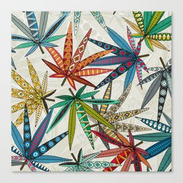 boho weed light Canvas Print