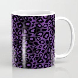Deep Purple Leopard Skin Pattern Coffee Mug