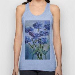 blue flower Unisex Tank Top